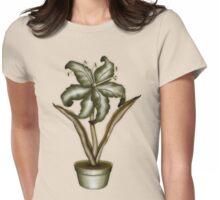 Flower & Pot II Womens Fitted T-Shirt