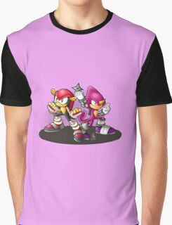 Mighty and Espio Ready for Battle Graphic T-Shirt
