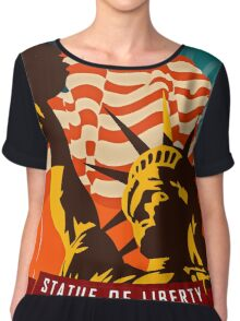 New York's Statue of Liberty Poster Tapestry Chiffon Top