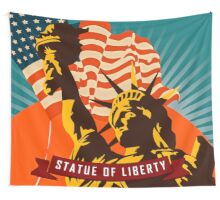 New York's Statue of Liberty Poster Tapestry Wall Tapestry