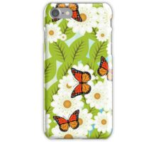 Daisies and butterflies iPhone Case/Skin