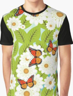 Daisies and butterflies Graphic T-Shirt