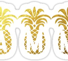Gold Pineapples Gamma  Sticker