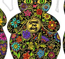 Three Wise Lucky Black Cats  Sticker