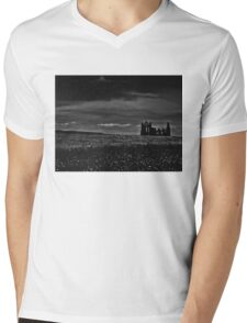 'Then as the cloud passed, I could see the ruins of the abbey coming into view'  Mens V-Neck T-Shirt