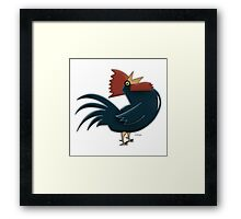 Blue Rooster Framed Print