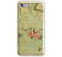 Map Of Boston 1776 iPhone Case/Skin