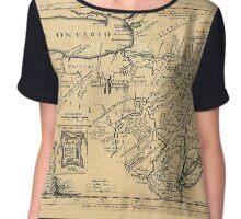 Map Of Lake Ontario 1756 Chiffon Top