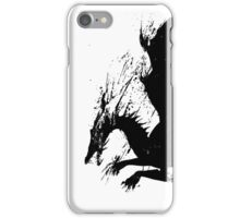 Dragon Black Grunge  iPhone Case/Skin