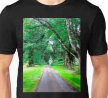 Tree Lined Avenue Unisex T-Shirt