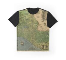 Map Of Mexico 1595 Graphic T-Shirt