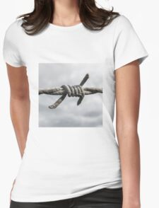 Barb of Barbed Wire Womens Fitted T-Shirt