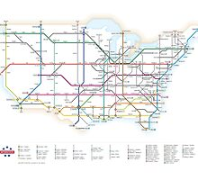 U.S. Interstate Highways as a Subway Map by Cameron Booth