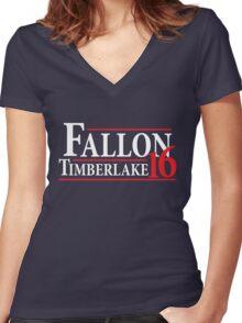 Fallon Timberlake 16 Women's Fitted V-Neck T-Shirt