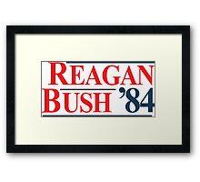 Legendary Regan Bush 84 Campaign Framed Print