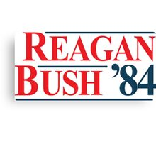 Legendary Regan Bush 84 Campaign Canvas Print