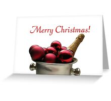 Merry Christmas Champagne Greeting Card