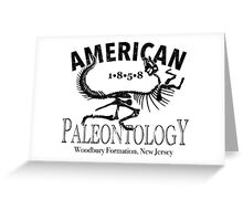 American Paleontology Greeting Card