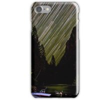 Star Trails and Comet over King's Canyon Stream iPhone Case/Skin