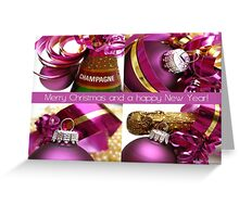Merry Christmas collage card Greeting Card