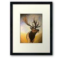 """Incredi - Bull"" Elk Painting Framed Print"