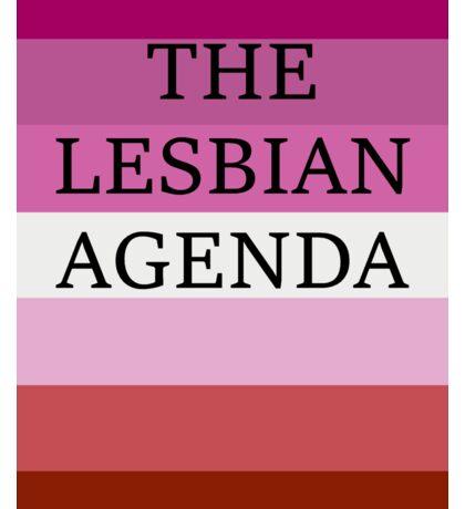 The Lesbian Agenda Sticker