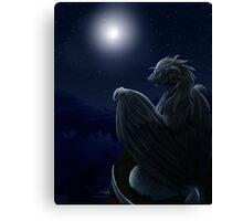 Moon Dragon Canvas Print