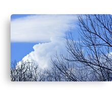 Clouds & Trees Canvas Print