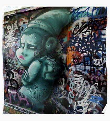 Street Art -  Melbourne Union Lane - Green Goblin  Poster
