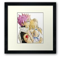 Natsu and Lucy Fairy Tail Framed Print