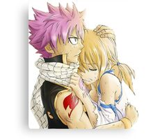 Natsu and Lucy Fairy Tail Canvas Print