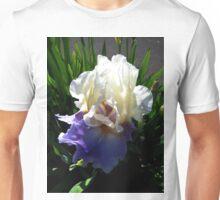 Beautiful Blue and White Iris Unisex T-Shirt