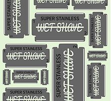 Wet Shave Razor Blade by piedaydesigns