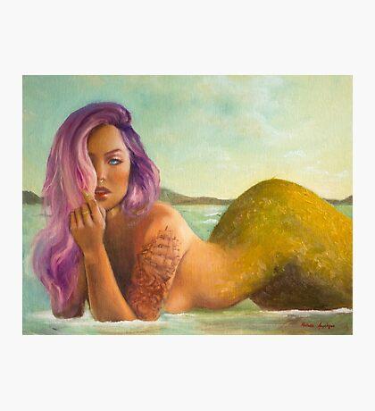 Mermaid Pin Up Photographic Print