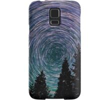 Polaris Star Trails Over Forest in King's Canyon  Samsung Galaxy Case/Skin