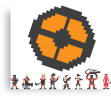 Pixel Fortress 2 - Red Canvas Print