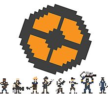 Pixel Fortress 2 - Blu Photographic Print