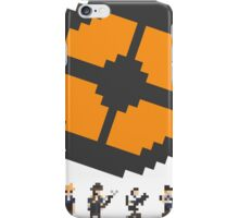 Pixel Fortress 2 - Blu iPhone Case/Skin