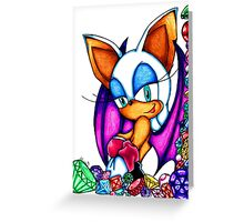 Rouge the Bat Greeting Card