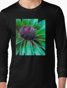 Flower with Bumble from Planet Zorg  Long Sleeve T-Shirt