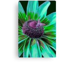 Flower with Bumble from Planet Zorg  Canvas Print