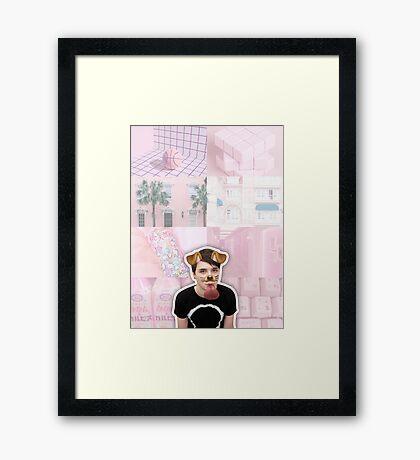 Puppy Filter Dan Howell Aesthetic Collage Framed Print