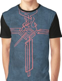 Religious Cross with different symbols Graphic T-Shirt