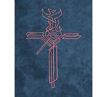 Religious Cross with different symbols Photographic Print