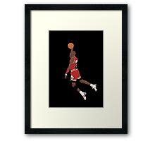 Michael Jordan Dunk Framed Print