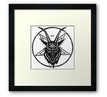 Pentagram Goat Head Framed Print