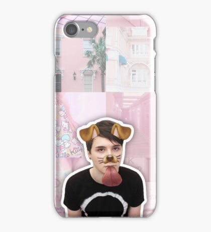 Puppy Filter Dan Howell Aesthetic Collage iPhone Case/Skin