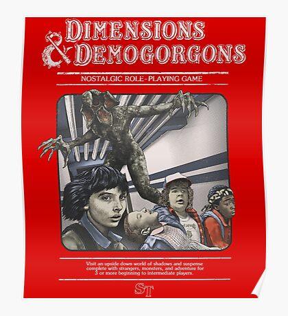 Dimensions & Demogorgons Poster