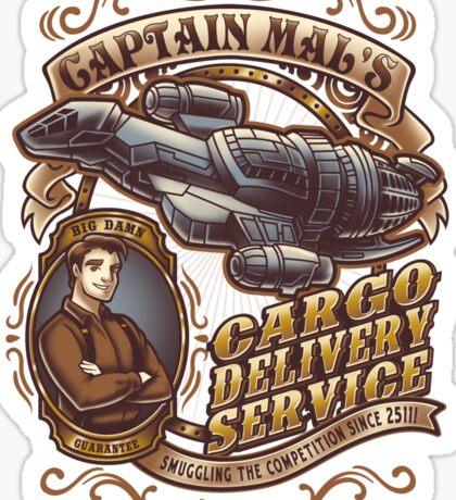 Capt. Mal's Cargo Delivery Sticker