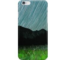 Star Trails Over Mountains in King's Canyon  iPhone Case/Skin